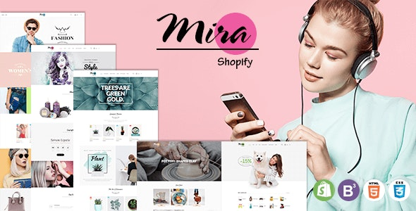 Mira - Accessories Boutique Responsive Sectioned Shopify Theme - Shopify eCommerce