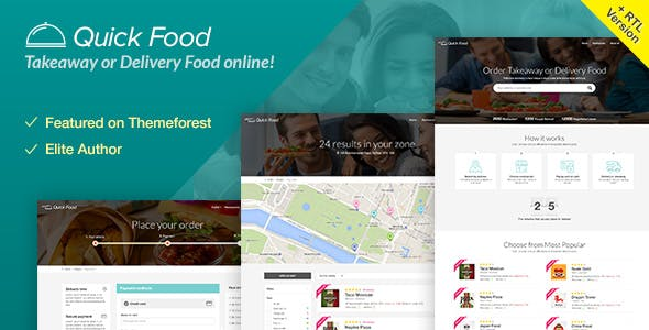 Web Templates | Hmtl Food Website Templates From Themeforest