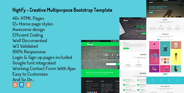 Highfy - Creative Multipurpose Bootstrap Template - Creative Site Templates