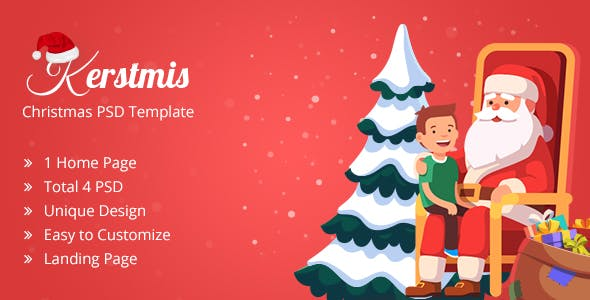 KERSTMIS Christmas PSD Template With Wishing Letter