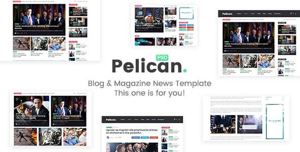 Pelican - Magazine & Personal Blog PSD Template - Miscellaneous Photoshop
