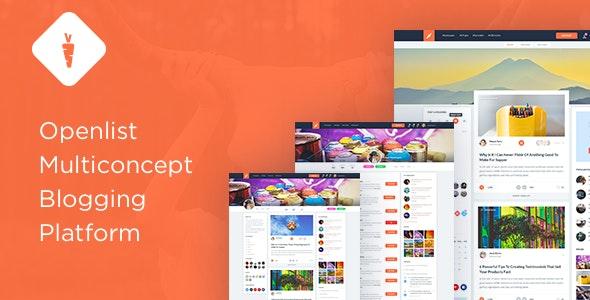 Open List - Blogging platform Template - Social Media Home Personal