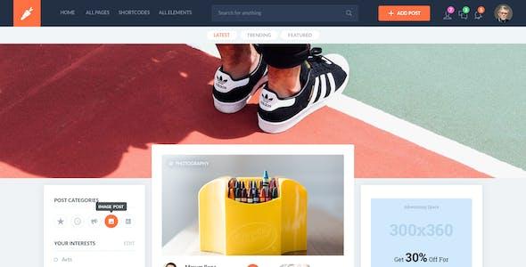 Open List - Blogging platform Template