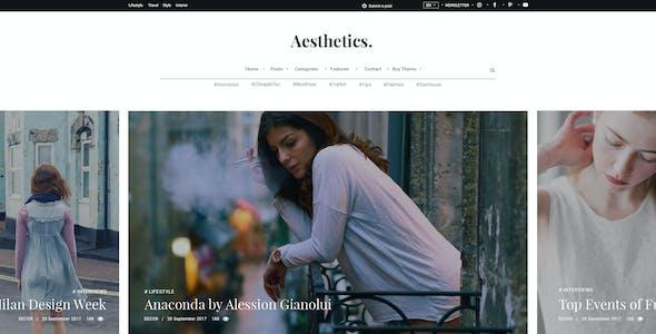 Aesthetics. Lifestyle Blog & Magazine PSD Template
