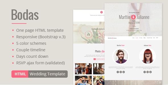 Bodas - HTML Wedding Template - Wedding Site Templates
