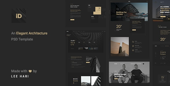 Inside - An Elegant Architecture PSD Template - Portfolio Creative