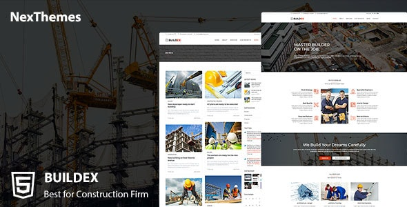 Buildex a Construction Company HTML Template - Business Corporate