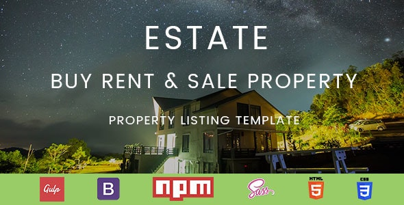 Estate Buy Rent & Sale Property Listing Directory Template - Corporate Site Templates