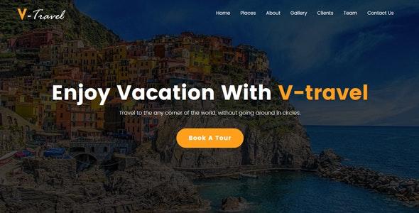 V-Travel - Travel agency Responsive Website Template - Travel Retail