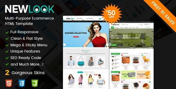 NewLook - Fashion & Furniture Store Responsive Multipurpose E-Commerce HTML Template - Retail Site Templates