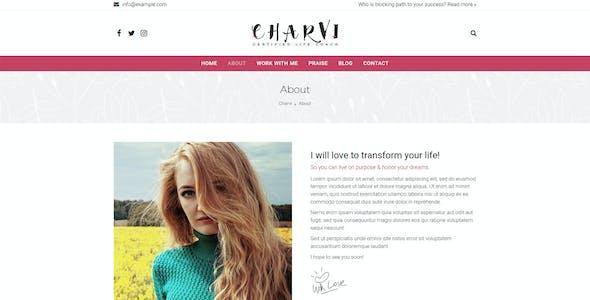 Charvi Coach & Consulting - Feminine Business WordPress Theme