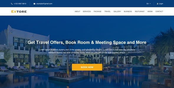 Extore - Hotel & Travel Agency Sketch Template