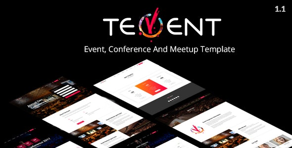 Tevent - Conference & Event Template - Events Entertainment
