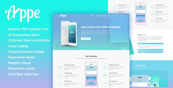 Appe - Business App Onepage Template - Technology Site Templates