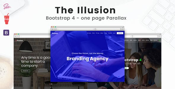Illusion - Bootstrap 4 One Page Parallax