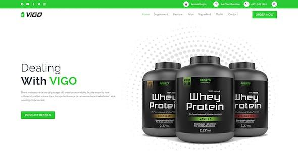 VIGO-Health Supplement Landing Page PSD Template