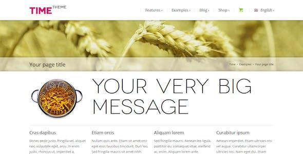 Time - Responsive WordPress Theme