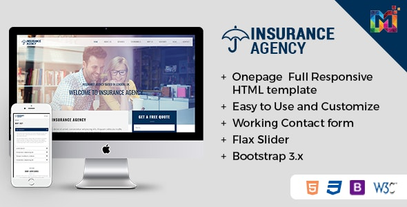 Insurance - Responsive HTML Template - Business Corporate