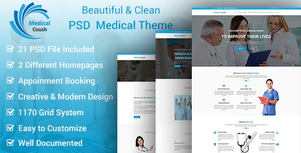 Medical Coush - Medical PSD Template - Business Corporate