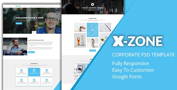 X-zone Corporate PSD Template - Corporate Photoshop