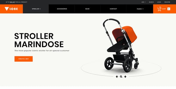 Lone – Single Product eCommerce PSD Template
