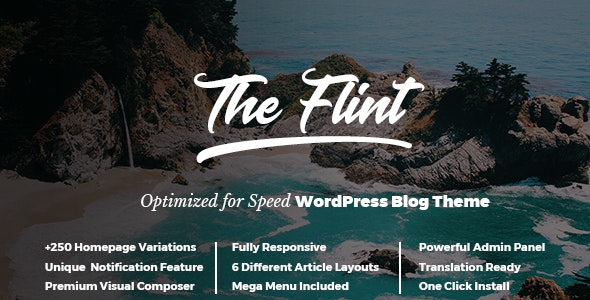 Flint - Optimised WordPress Blog Theme - Personal Blog / Magazine