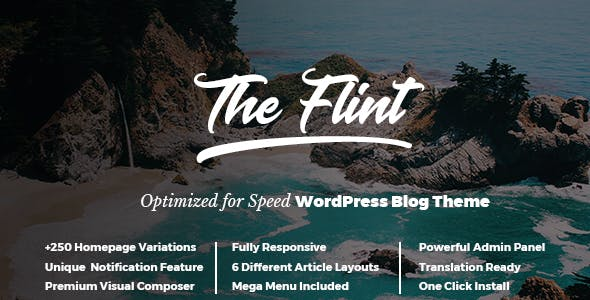 Flint - Optimised WordPress Blog Theme