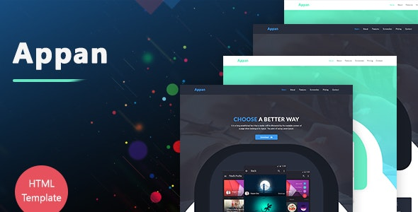 Appan - HTML5 App Landing Page Template - Creative Landing Pages