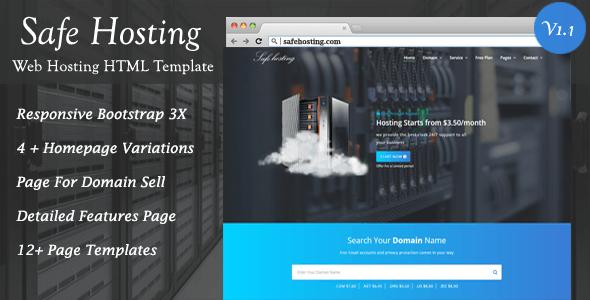 Safe Hosting HTML Template - Hosting Technology