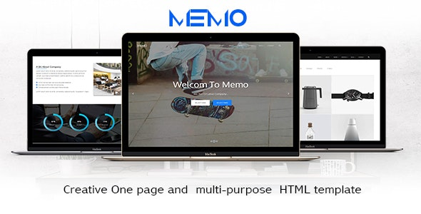 memo - Creative One page and  multi purpose  HTML template - Creative Site Templates