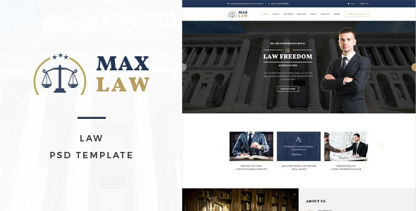 Max Law - Lawyer & Attorney HTML Template - Political Nonprofit