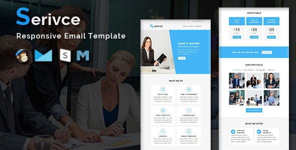 Service - Multipurpose Responsive Email Template - Newsletters Email Templates