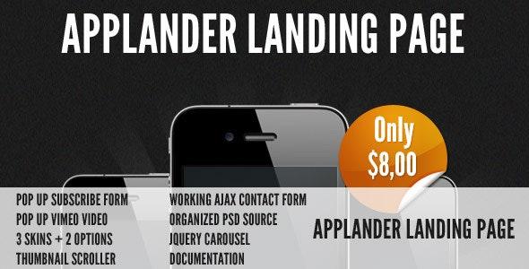 Applander - App Landing Page - Apps Technology