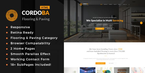 Cordoba : Floor and Paving Service HTML Template