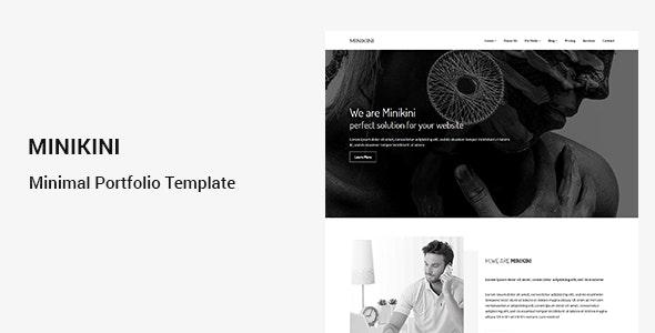 Minikini - Minimal Portfolio HTML Template - Portfolio Creative