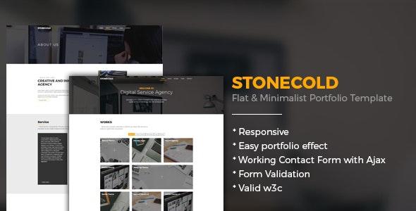 Stonecold - Flat & Minimalist Portfolio Template - Portfolio Creative