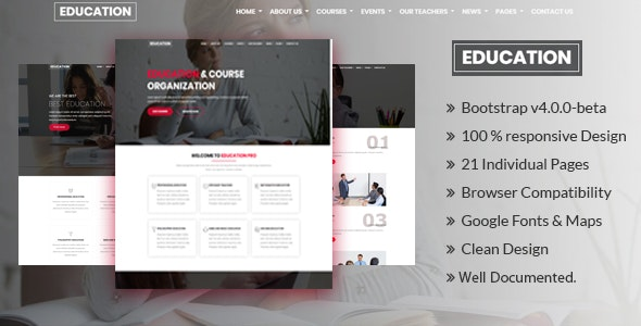 Pro-Education - Education, Academy & Training Courses - Corporate Site Templates