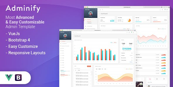 Vuejs Admin Templates from ThemeForest