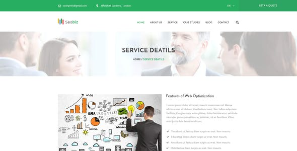 Seobiz– Marketing and SEO PSD Template
