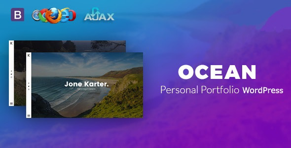 Ocean - Personal Portfolio WordPress Theme - Portfolio Creative