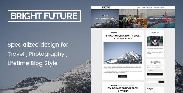 BrightFuture - Minimal Blog WordPress Theme - Personal Blog / Magazine