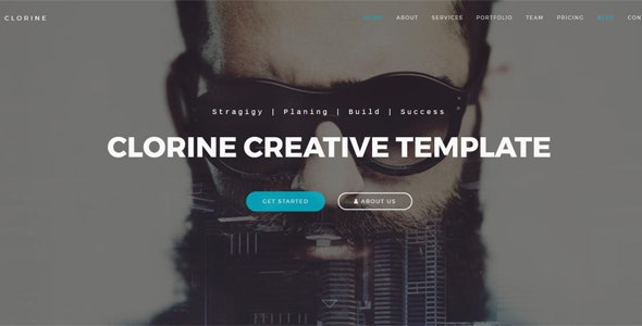 Clorine - Responsive Business Creative Portfolio Template - Business Corporate
