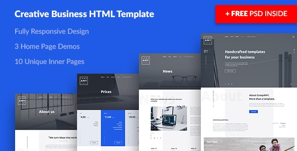 ANY — Creative Business HTML Template - Business Corporate