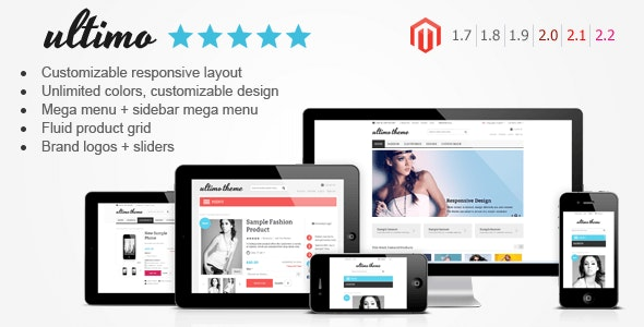 Ultimo Fluid Responsive Magento Theme By Infortis Themeforest