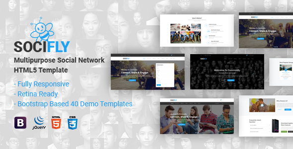 SociFly | Multipurpose Social Network HTML5 Template - Miscellaneous Site Templates