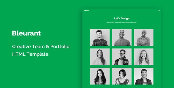 Bleurant - Creative Team and Portfolio HTML Template - Creative Site Templates
