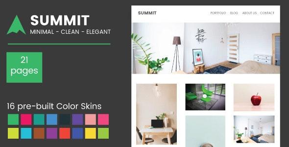 Summit - Minimal Responsive Multipurpose Template - Site Templates