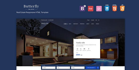 Butterfly - Responsive Real Estate HTML Template