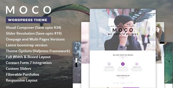 Moco - One Page WordPress Theme - Creative WordPress
