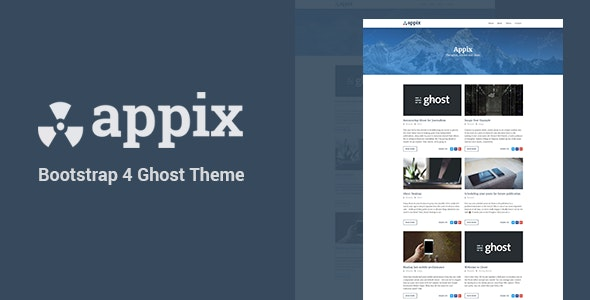 Appix - Minimal and Content Focused Ghost Blogging Theme (Bootstrap 4) - Ghost Themes Blogging